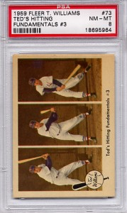 1959 Fleer Ted Williams - Ted's Hitting Fundamentals #3 - PSA 8 NM-MT