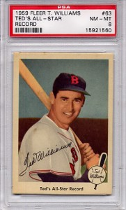 1959 Fleer Ted's All-Star Record #63 - PSA 8 NM-MT