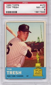 1963 Topps Tom Tresh Rookie #470 - New York Yankees PSA 8 NM-MT