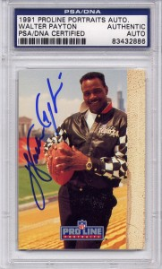 Walter Payton PSA/DNA Certified Authentic Autograph