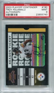 Troy Polamalu Rookie PSA/DNA Certified Authentic Autograph - 2003 Playoff Contenders