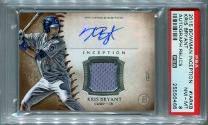 Kris Bryant PSA/DNA Certified Authentic Autograph - 2015 Bowman Inception