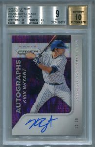 Kris Bryant BGS Certified Authentic Autograph - 2015 Panini Prizm - Purple Flash