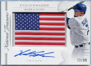 2015 Panini National Treasures Made In The USA Kyle Schwarber Autograph #56