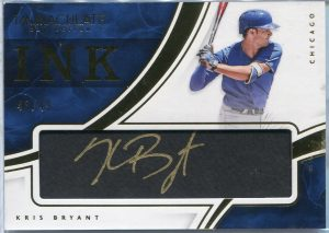 2016 Panini Immaculate Collection Ink Kris Bryant Autograph #II-KB #48/49