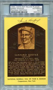 Sandy Koufax PSA/DNA Certified Authentic Autograph - Hall of Fame Postcard